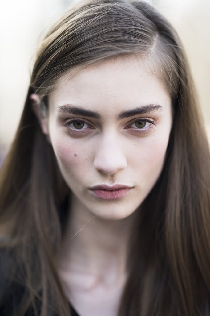 Bold brows and blushy cheeks looked gorgeous on Marine Deleeuw. Source: Le 21ème | Adam Katz Sinding