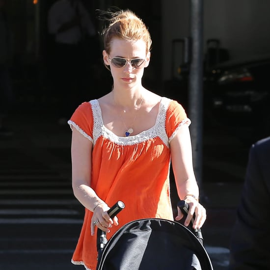January Jones Leaves LAX With Xander Pictures