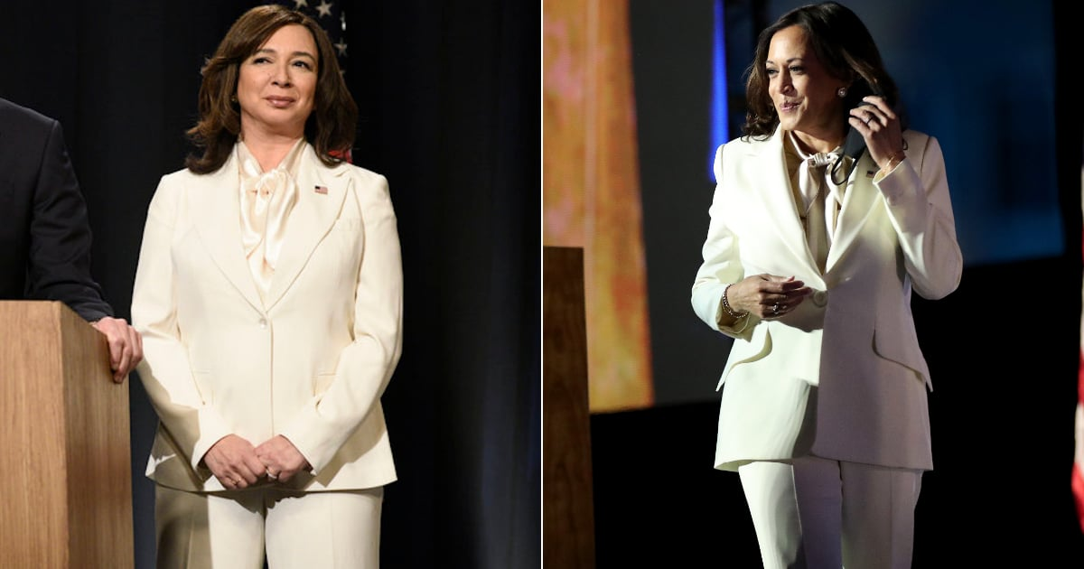 SNL Had 85 Minutes to Re-create Kamala Harris's White Pantsuit For Maya Rudolph — Here's How They Did It