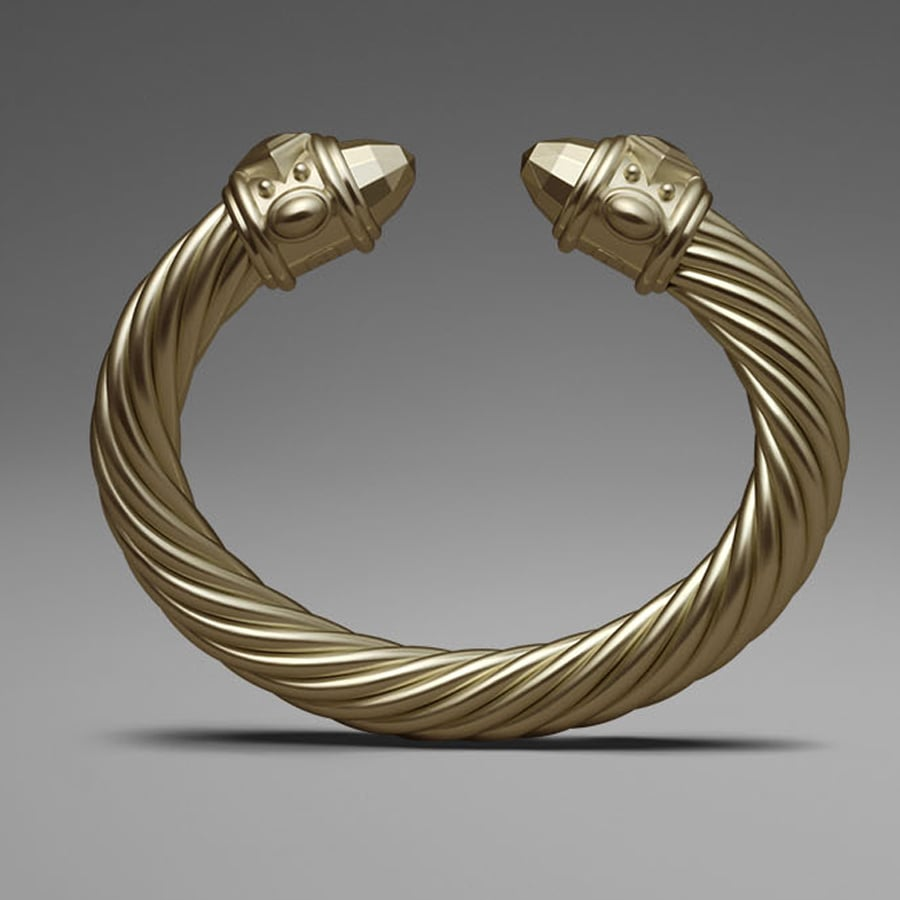 David Yurman Gold Aluminum Cable Bracelet