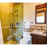 Each bedroom comes with its own bathroom, and there are two additional half bathrooms.