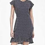 Print Flutter-Sleeve Mini Dress