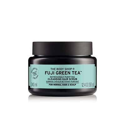 The Body Shop Fuji Green Tea Refreshingly Purifying Cleansing Hair Scrub ($29)