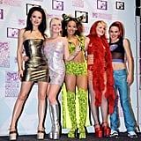 Then: One of Victoria's first red carpet appearances was at the 1997 MTV Music Awards in Europe, alongside the Spice Girls. Back then, you couldn't find her showing off a hemline that extended to her knees. It was always about the supertight minidresses and platforms.
