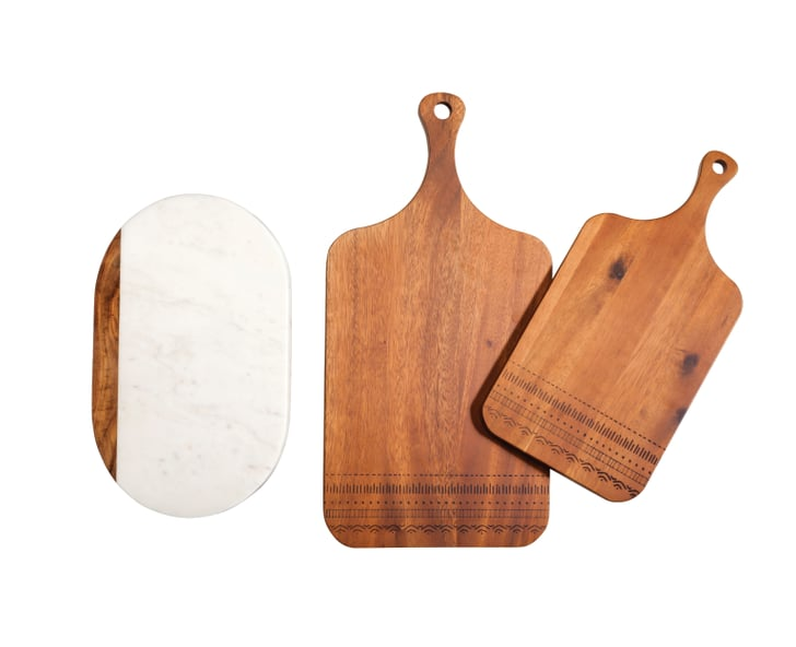 Marble And Wood Cutting Board 25 Wood Etched Cutting