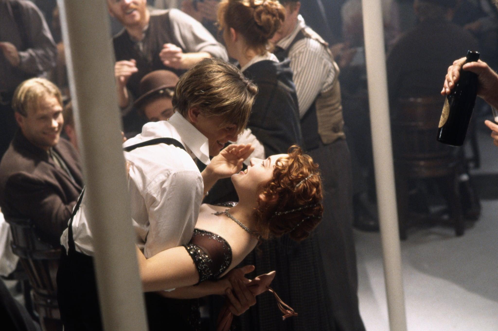 Leonardo DiCaprio and Kate Winslet in Titanic.