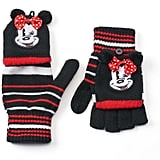 Minnie Mouse Striped Flip-Top Gloves