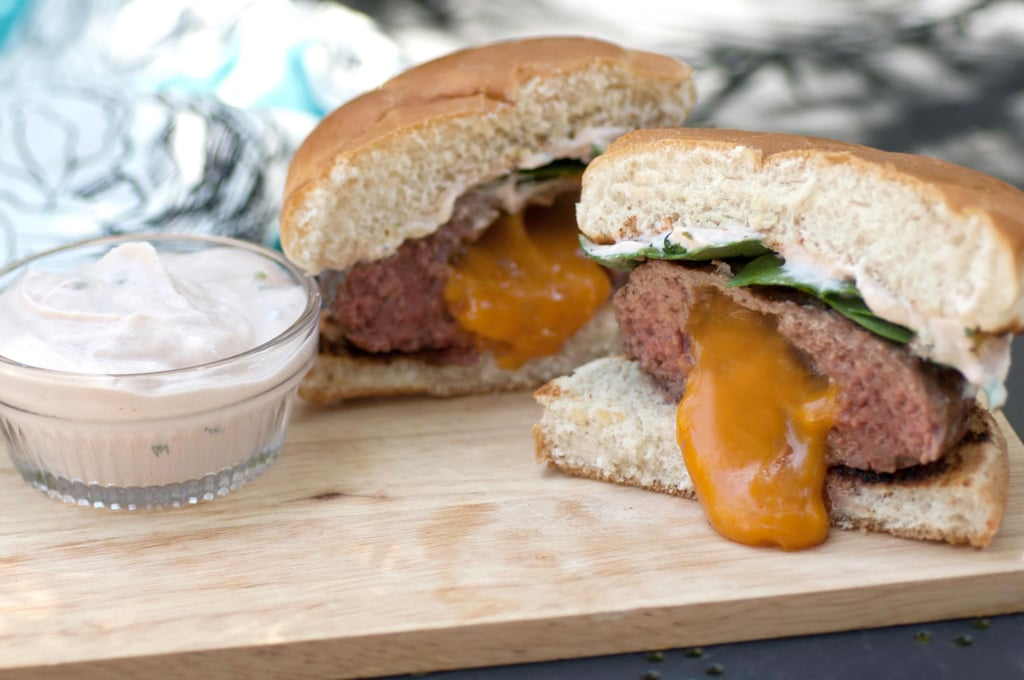 Inside-Out Burgers With White Sauce
