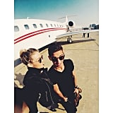 On private jet rides.