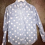 Love the spots and chambray spotted at Vanishing Elephant showings during the week.