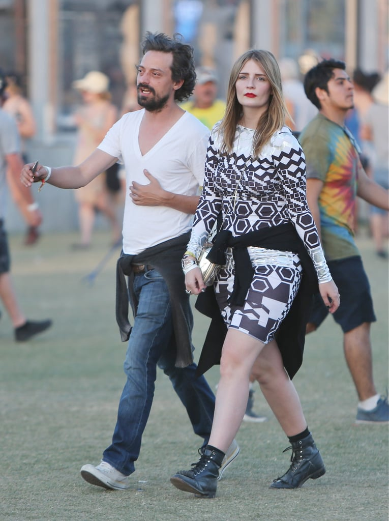 Mischa Barton hit the grounds at Coachella for the second weekend.