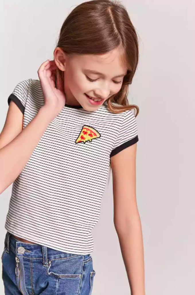 Striped Pizza Tee
