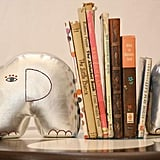 Zid Zid Silver Elephant Book Ends