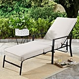 Outdoor Chaise Lounge With Gray Cushions