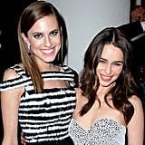 Allison Williams and Emilia Clarke linked up inside the HBO Golden Globes afterparty.