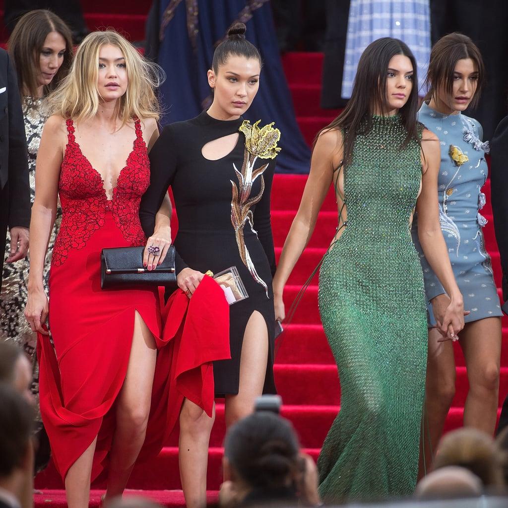 Gigi Hadid, Bella Hadid, Kendall Jenner, and Hailey Baldwin — 2015