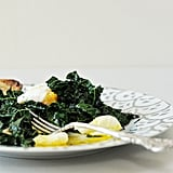 Easy Vegetarian Recipe: Spicy Garlic Kale With Poached Eggs