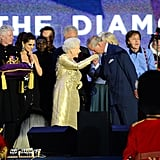 Celebrating her Diamond Jubilee in 2012.