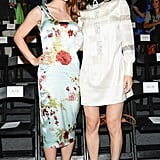 Catharine Daddario and Alexandra Daddario brightened up Marissa Webb's front row.