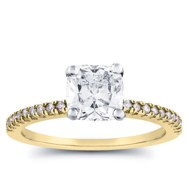 if you want to go gold - Affordable Diamond Wedding Rings