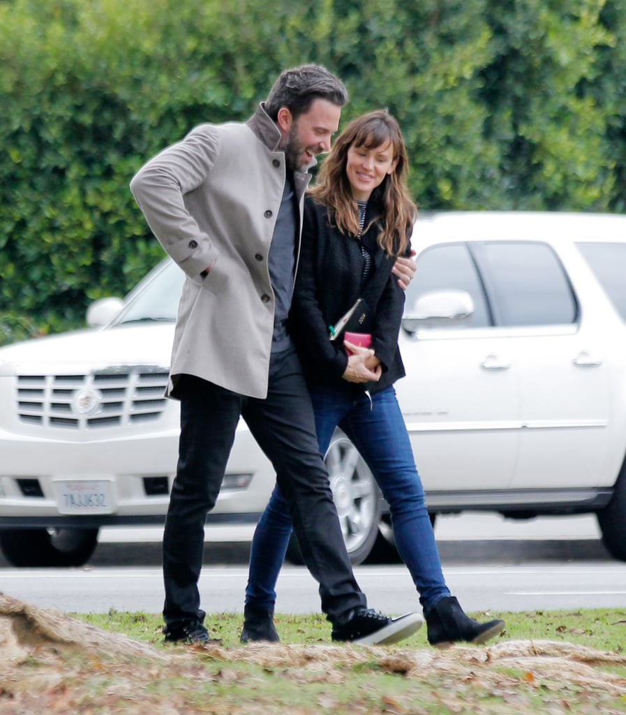 """Just when you think Ben Affleck and Jennifer Garner couldn't get any cuter, the couple outdoes themselves right before Christmas. That's what happened when Ben and Jen headed out in LA on Thursday. The duo's chemistry came pouring out when Ben wrapped his arm around his wife and Jen couldn't help but smile. It's just the latest display of affection in what has been a picture-perfect year for the couple. We last caught a glimpse of their connection in October, when they made parking lot PDA look hot. Earlier in the year, the pair kept the Valentine's Day spirit going during an otherwise casual outing.  Meanwhile, Ben has been grabbing headlines for his full-frontal scene in Gone Girl, of which high-quality footage hit the Internet this week. Jen hasn't been shy about sharingher thoughts on the scene, telling Ellen DeGeneres, """"He's showing his penis. . . . What I have to say is, 'You're welcome.'"""" Keep reading to see the couple's new pictures, and then check out their home-run relationship moments over the years."""
