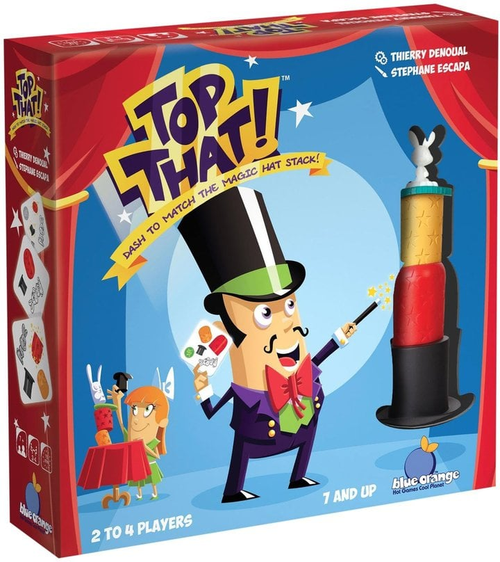 Top That: Dash to Match the Magic Hat Stack! Board Game