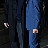 George Clooney and Philip Seymour Hoffman at The Ides of March premiere in London.