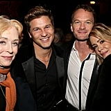 The couple cuddled up with fellow cute couple David Burtka and Neil Patrick Harris at a performance of School of Rock on Broadway in December 2015.