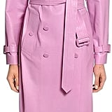 Valentino Double Breasted Leather Trench Coat