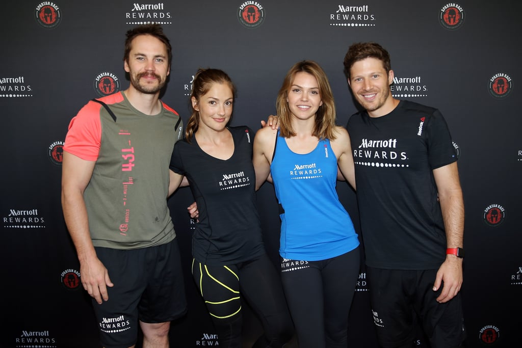 "Texas forever! Former Friday Night Lights costars Taylor Kitsch, Zach Gilford, Minka Kelly, and Aimee Teegarden reunited in Chicago on Saturday for the Spartan Super Race. The group got together thanks to Marriott Rewards, and in our interview with Taylor Kitsch, he said, ""I haven't seen [the cast] in years and years, and it'll bring back a lot of memories. It's been a while, so I'm excited to compete with them and hang out and just be a part of the Spartan Race. It's going to be such a fun day."" Keep reading for a look at some of the best pictures of the group's reunion, then find out what the Friday Night Lights cast is up to now."