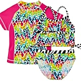 Rash Guard and 2-Piece Swimsuit Set