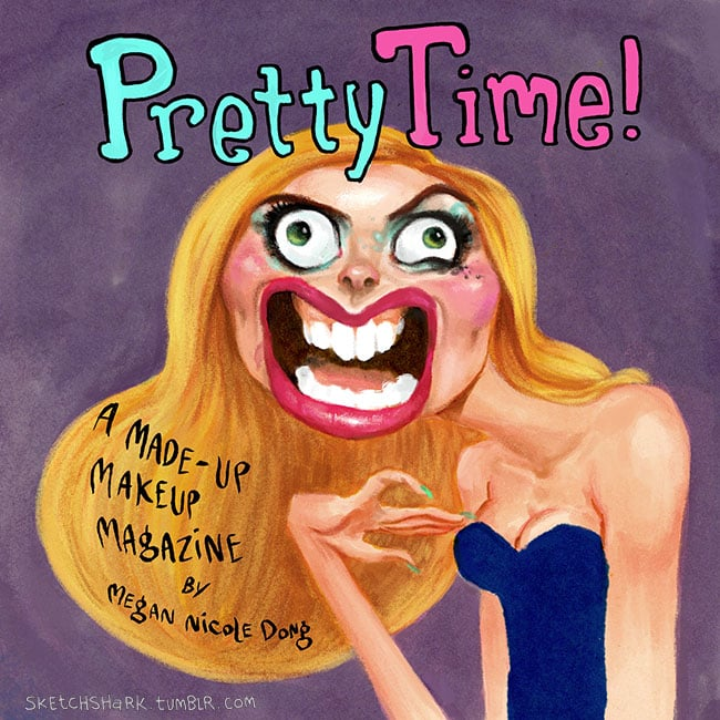 Funny Beauty Magazine With Cartoons