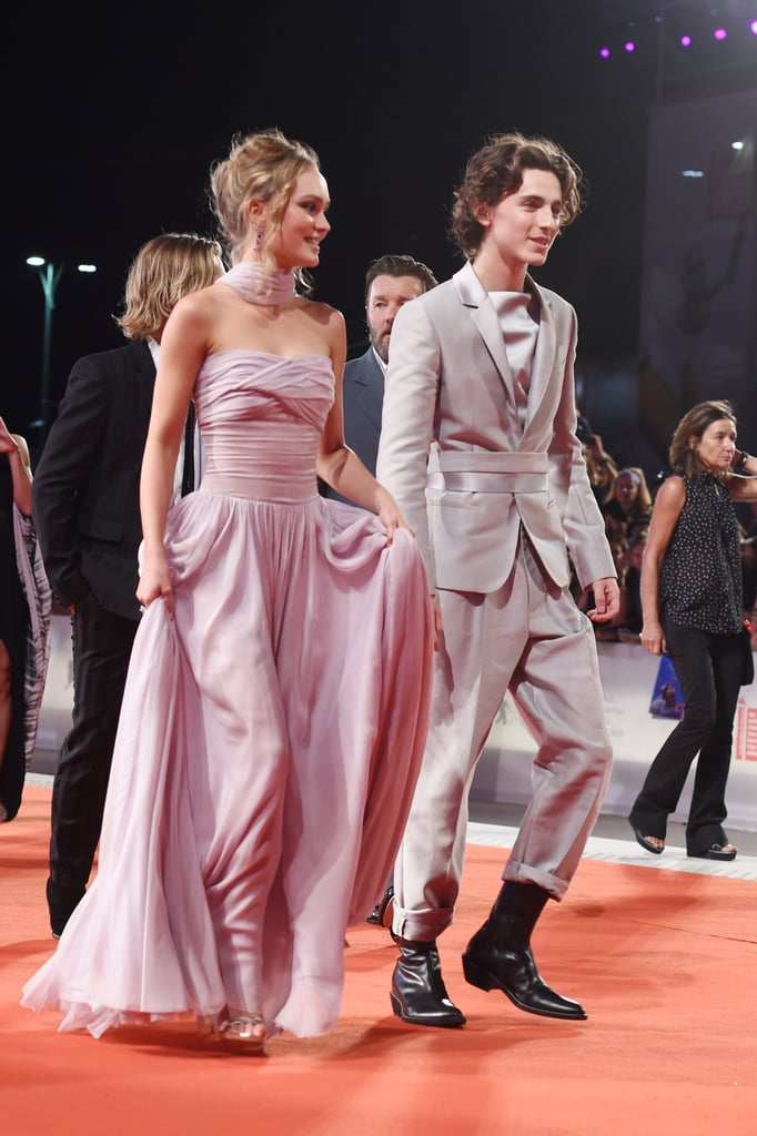 Lily-Rose Depp and Timothée Chalamet at The King Premiere