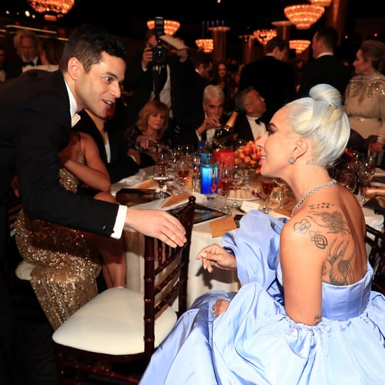 Rami Malek and Lady Gaga at the 2019 Golden Globes