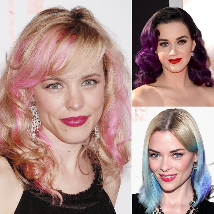 The Future's Bright: Celebrities With Colored Streaks, Dip Dyes, and Pastel Hair