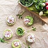 Avocado and Radish Rice Cake