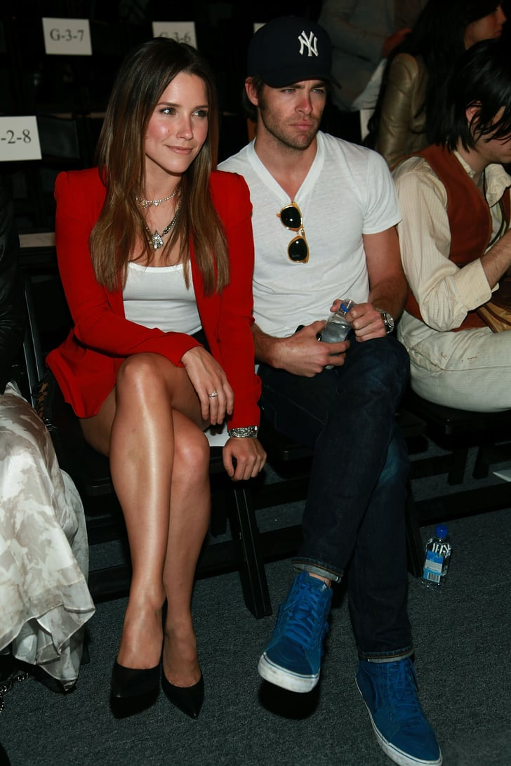 Sophia Bush And Chris Pine In The Front Row At Rebecca