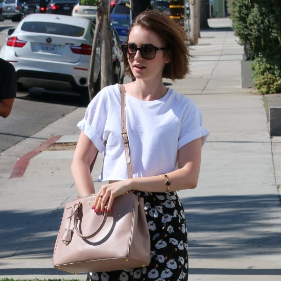 Lily Collins Shows Us the Power of a Plain White Tee