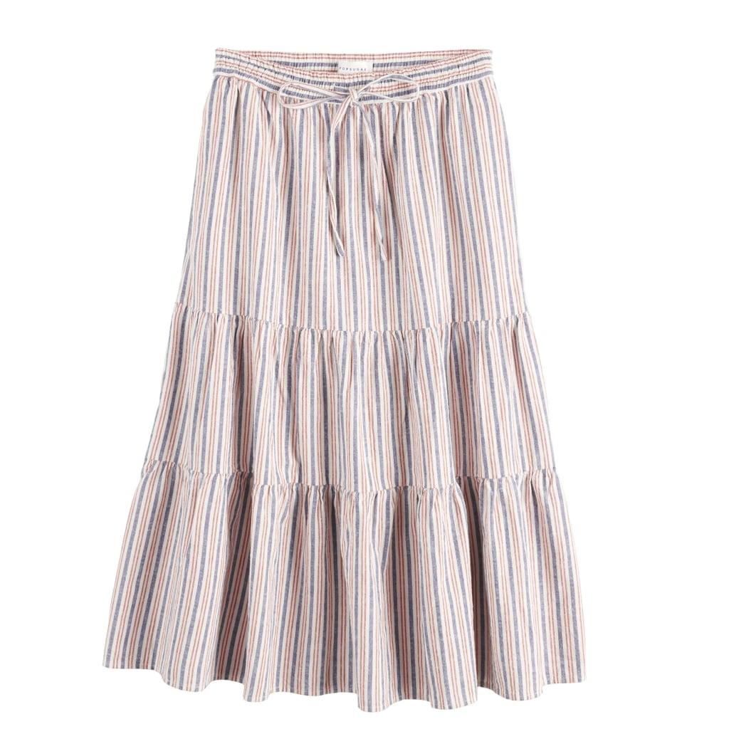 POPSUGAR Tiered Midi Skirt