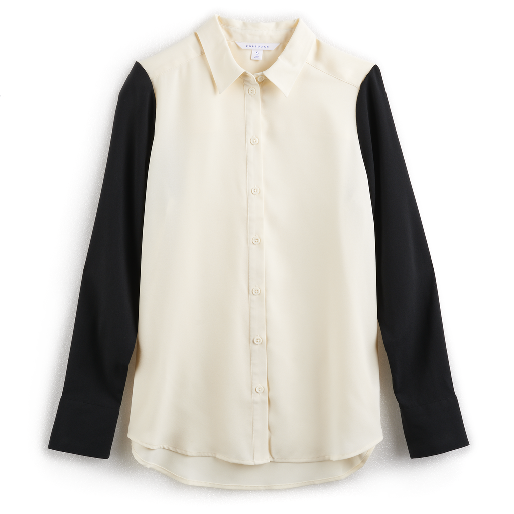 قميص كلاسيكيّ باللّونين الأسود والأبيض