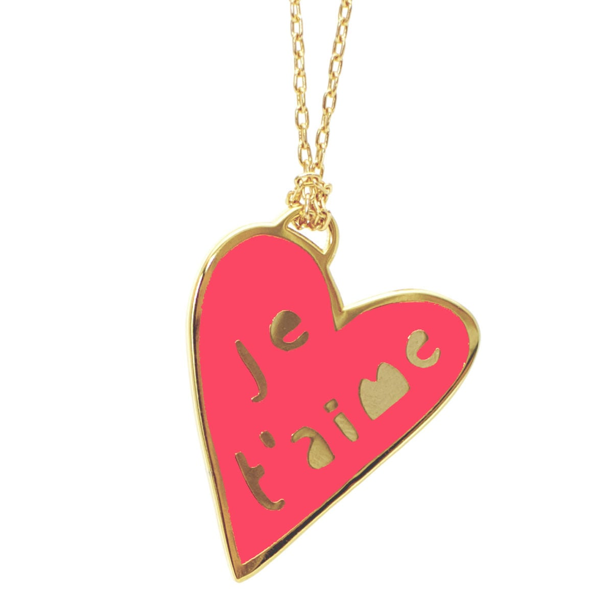 yellow owl workshop je t 39 aime necklace the best v day