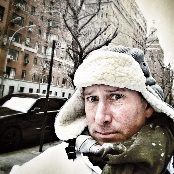 Adam Shankman braved the snowy weather. Source: Instagram user adamshankman
