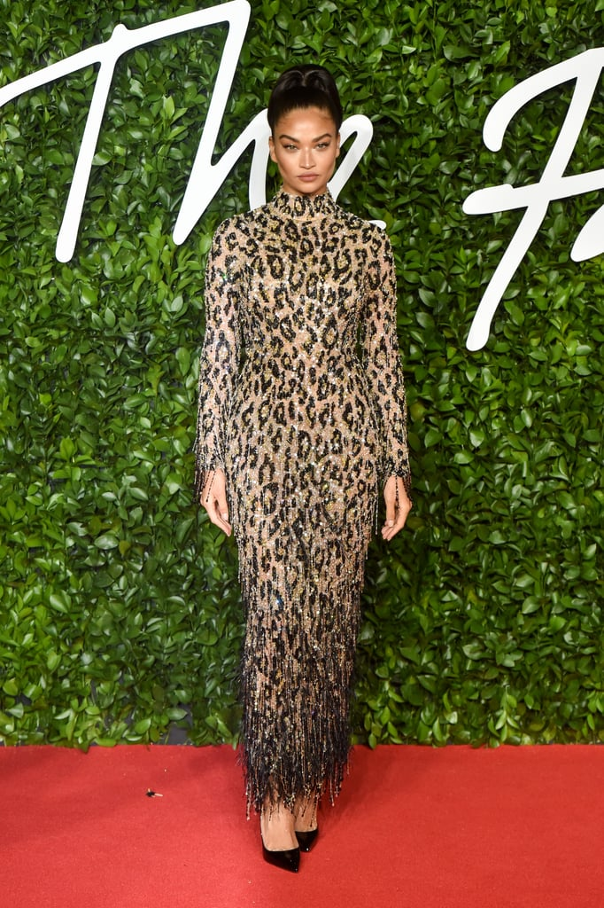 Shanina Shaik at the British Fashion Awards 2019 in London