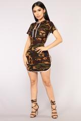 Fashion Nova All Eyes On You Camo Dress