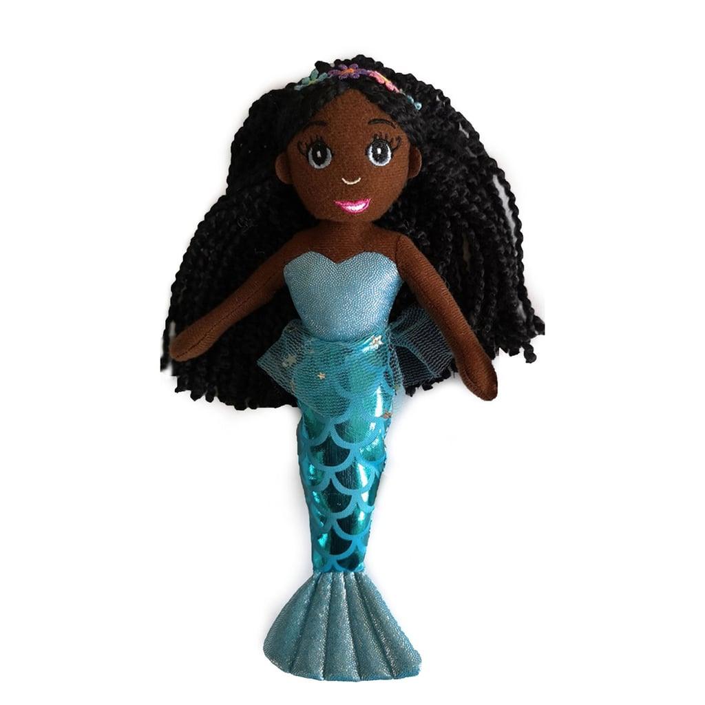 Dark Brown Skin Tone Mermaid Doll