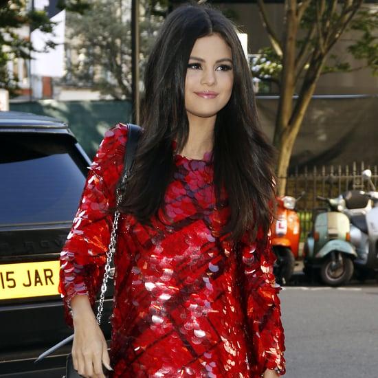 Selena Gomez in Red Dresses