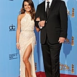 Lea Michele and Nathan Fillion