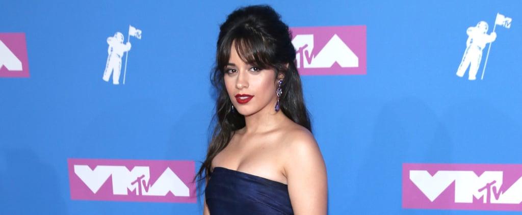 Camila Cabello Blue Oscar de la Renta Dress VMAs 2018 Dress