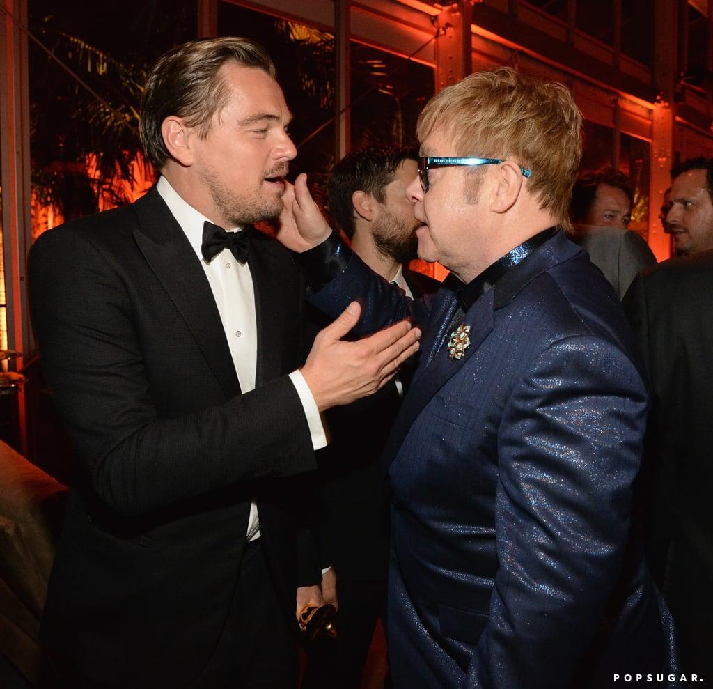 Pictured: Leonardo DiCaprio and Elton John