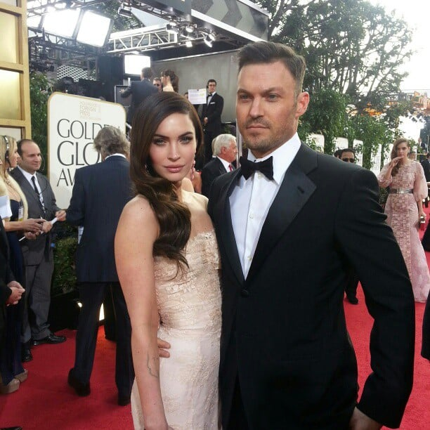 Megan Fox and Brian Austin Green looked hot on the Golden Globes red carpet. Source: Instagram user goldenglobes
